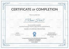 Certificate Of Training Completion Template Certificate Of Training Completion Magdalene Project Org