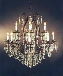 wrought iron crystal chandeliers wrought iron crystal chandelier