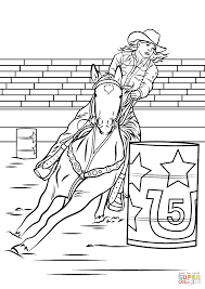 Small Picture Horse Barrel Racing coloring page Free Printable Coloring Pages