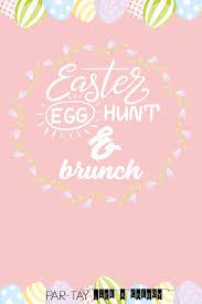 Easter Egg Hunt Brunch Invitation Template Blank With Logo