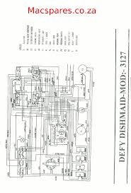 wiring diagram dishwashers macspares wholesale spare parts Oven Thermostat Wiring defy dishwasher dishmaid 3127 splicing thermostat wiring oven