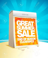 Great Summer Sale Tear Off Calendar Design