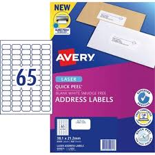 avery sheet labels avery quick peel address laser labels l7651 white 65 per sheet 100 sheets