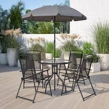 nantucket 6 piece black patio garden