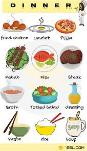 Types Of Meals Food And Drinks Vocabulary In English Types Of Meals 7 E S L