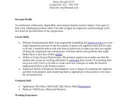 Hr Entry Level Resume Career Live Resume Non Traditional