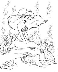 Small Picture Ariel Coloring Page GetColoringPagescom