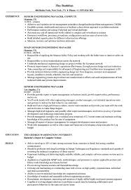 Senior Engineering Manager Resume Samples Velvet Jobs