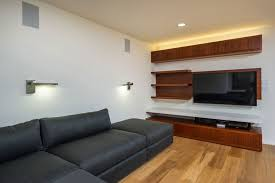 exquisite mid century modern home renovation project in california sleek floating shelves in the living