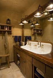 bathroom lighting ideas photos. Outstanding Rustic Bathroom Light Fixtures For Ideas With Sink And Faucet Plus Bath Mirror Lighting Photos S