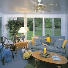 sunroom decorating ideas window treatments. Small Great Vintage Wall Window Treatments With Wooden Home Sunroom Decorating Ideas Elegant Fanceiling Also Comely Blue Sofa Plus Yellow Cushion And E