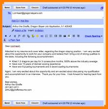 Subject For Resume Mail Email Cover Letter For Job Application 6