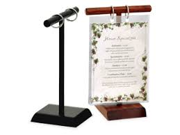 Menu Flip Charts Menu Stands Restaurant Table Tents Table Stands And Card