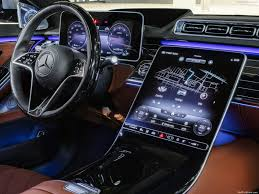 The sculptured look of the dashboard, centre console and armrests appears to float above an expansive interior landscape. Mercedes Benz S Class 2021 Pictures Information Specs