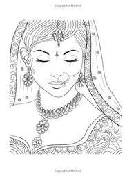 Unique Cute Indian Girl Coloring Pages Doiteasyme