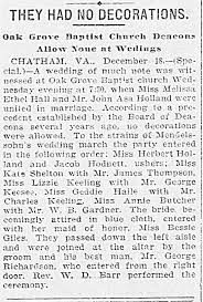 Richmond Dispatch, 19 Dec 1902 Melissa Ethel Hall and John Asa Holland,  Wedding. - Newspapers.com