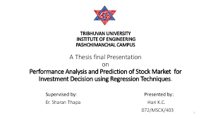 Performance Analysis And Prediction Of Nepal Stock Market