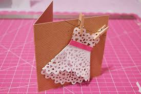 how to make girly things out of paper things to do with doilies 3 diy doily dress card oh hi diy