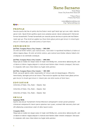 Gallery Of Resume Format Resume Templates Open Office Resume