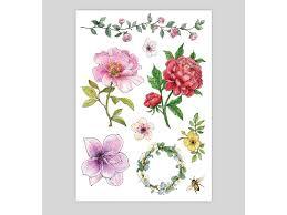 Dočasné Tetování Květinové