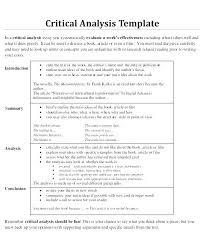 Examples Of A Critical Essay Sample Critical Essay Examples Critical