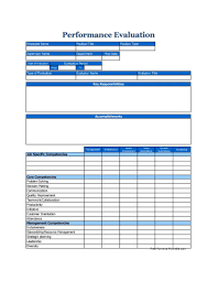 Employeeormance Review Template Word Free Annual Simple Pdf