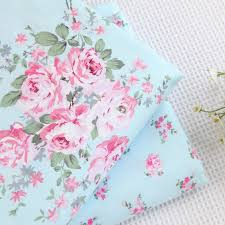 width 160cm*50cm 100% cotton bedding blue rose print fabric ... & width 160cm*50cm 100% cotton bedding blue rose print fabric bedding curtain  pillowcase diy sewing quilt fabric patchwork tecidos-in Fabric from Home ... Adamdwight.com