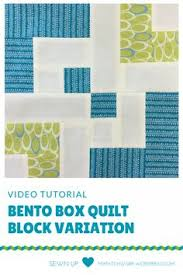 free bento box quilt patterns | bento box quilt a bento box block ... & Video tutorial: Bento box quilt block variation - beginner's block Adamdwight.com