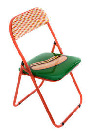 furniture chairs hot dog folding chair padded by seletti hot