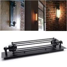 loft industrial iron cage. Vintage Industrial Iron Loft Wall Lamp Sconce Light Porch Fixture Flute Bar Cafe Cage