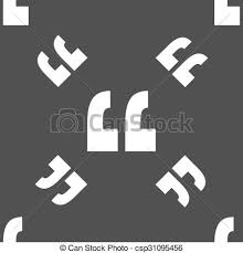 Quote Symbol Mesmerizing Quote Sign Icon Quotation Mark Symbol Double Quotes At The End Of