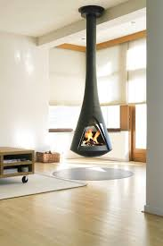 The Harrie Leenders Pharos Interior is wood burning stove. The stove is  designed to be suspended from the ceiling by an ingenious construction.