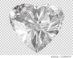 ハートダイヤモンド背景透明のイラスト素材 21806645 Pixta