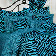 karin maki blue zebra leopard comforter collection