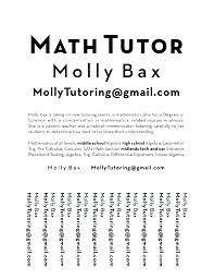 Maths Tuition Near Me Math Tutor Resume Math Tutor Resume