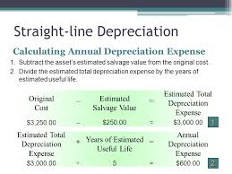 Straight Line Depreciation Equation Accounting For Plant Assets And Depreciation Ppt Video Online Download