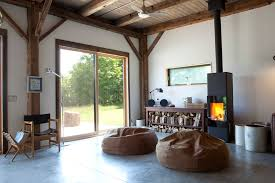 radiant floor heating cost living room rustic with bean bag chairs cabin