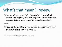 expository essay lesson ppt video online expository essay lesson 5 2 what s