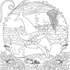37+ dolphin coloring pages for printing and coloring. Printable Dolphin Coloring Page Etsy