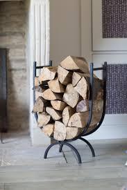 u shaped wrought iron fireplace log holder for fireplace log organizer idea