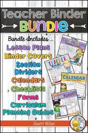 Teacher Binder Templates Editable Teacher Binder Bundle Click Type Print Templates Back