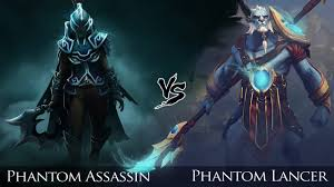 dota 2 phantom lancer vs phantom assassin one click battle