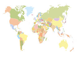 Geo Mapping Software Examples World Map Outline