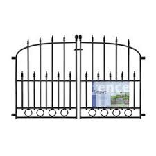 no dig mon 2 4 ft x 3 88 ft actual 2 4 ft x 3 88 ft powder coated steel pressed point decorative fence gate at lowes