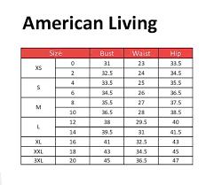 American Princess Size Chart American Living Clothing Size Chart Size Chart Clothes