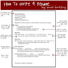 Guidelines For Writing A Resume Guidelines For Resume G Guidelines