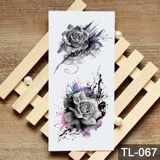 рисование роза геометрическая временная татуировка акварельное тату наклейки