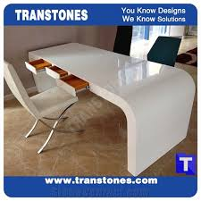 office desk table tops. project show pure snow white artificial marble stone modern curved u shaped office desk table top designsengineered solid surface work sets tops