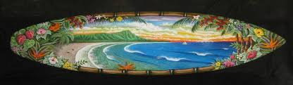 hand painted surfboards on hand painted surfboard wall art with blank