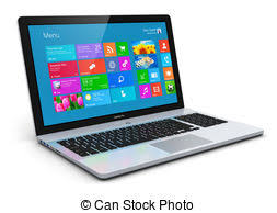 laptop clipart. modern laptop - business office portable laptop,. clipart o